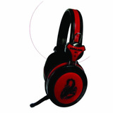 Audifono Gamer Halion S1 Scorpion Negro-rojo