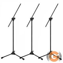 3 Pedestal Microfone Rmv Profissional Psu 0143 Goiás Musical