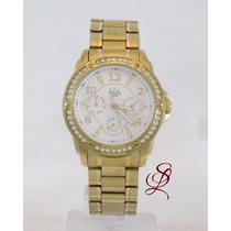 Relógio Dumont Feminino Dourado - Sz85194b