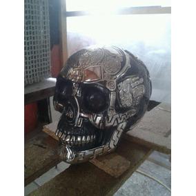 Escultura Craneo Azteca Plata 999 Figura Decorativa Env Inc