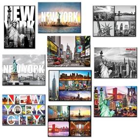 10 El New York Nyc Recuerdo Grande Imagen De La Foto Imán D