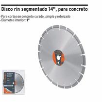 Disco Rin Segmentado 14 , Para Concreto