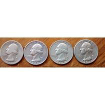 Quarter Dollar Plata Ley 900 1945 A 1963