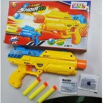 Pistola De Juguete Lanza Dardos Y Pelotas Game Shoot