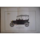 2 Láminas Autos Antiguos Ford Modelo A 1929 Modelo T 1915