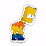 Adesivo Bart Simpsons Pelado Bumbum De Fora Engraçado