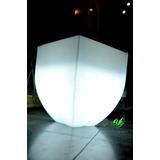 Maceta Luminosa Piramidal Moderna 40x45x19 Cm Muy Elegante..