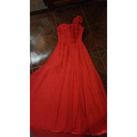 Vestido Vermelho Madrinha Casamento Formatura 15 Anos Festas