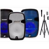 Bafle Fussion 15 6000w Bluetooth, Fm, Usb, Sd Recargable!