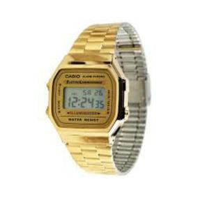 Reloj Casio Vintage A168 Retro Unisex Dorado Nuevo