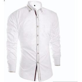 Camisa Branca Social Masculina Manga Longa Importada fd26059d1beb8