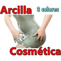 3 Kilos Arcilla Verde Roja Negra Barro Mascarilla Cosmetico