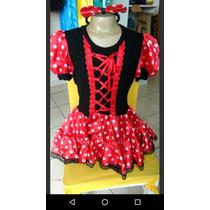 Fantasia Minnie Infantil - Pronta Entrega (confecção Própria
