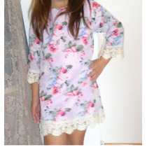 Vestido Tunica Camisola Bohemio Muy Romantico!