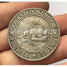 Moeda Brasil 2000 Réis 1900 Linda Peça Réplica Coleção