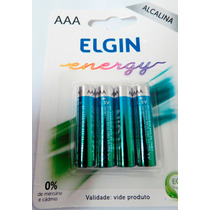 Cx C/40 Pilhas Alc Aaa Elgin Energy Lr3 1,5v Cx C/ 40 Aa Lr6
