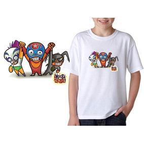 Camisetas Infantil Adulto Personalizada Desenho Mucha Lucha acb8d0b8b61