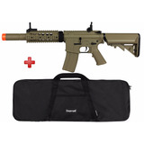 Rifle Airsoft Elétrico Cyma M4a1 Tan Bivolt + Brinde Capa