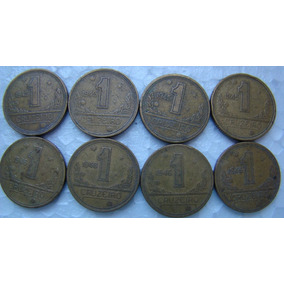 Lote 8 Moedas De 1 Cruzeiro 4 De 1945 E 4 De 1946 Raras Mc8