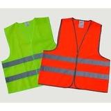Chaleco De Seguridad Vial Reflectivo Naranja Y Verde