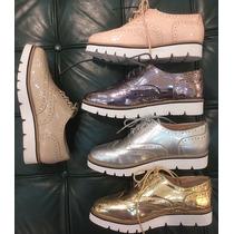 Zapatos Oxford De Damas