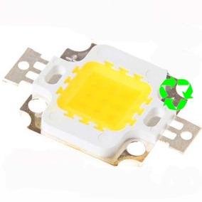 Led 10w Branco - 6500k - 1000lm + Pasta - Uso Em Refletor