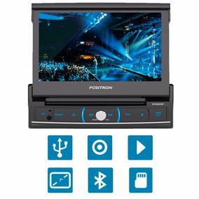 Dvd Para Carro Positron Retratil Sp6320bt C/ Bluetooth