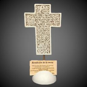 15 Piezas Cruces Padre Nuestro Bendicion De Alimentos