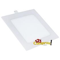Painel Plafon 12w Luminaria Led Quadrado Ultra Slim Embutir