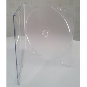 Estojo Cd Superslim Transparente 100 Unidades