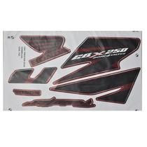 Kit Adesivos Honda Cbx Twister 250 2008 Vermelho