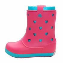 Botas De Lluvia Crocs Combinadas Niña Nena
