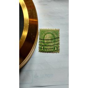 Selo Raro Benjamin Franklin - Rotary 1 Cent Verde
