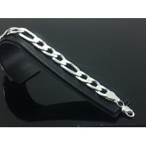 Esclava Gruesa Hombre Plata 925 Tejido Cartier #p05