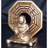 Imagem Buda Com Mandala Em Metal