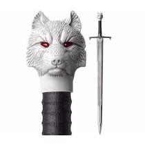 Espada Aço Game Of Thrones Jon Snow Lobo + Suporte Parede