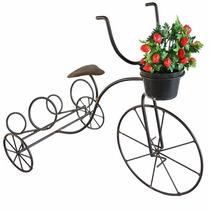 Bicicleta Artesanal Suporte Para Vasos Jardim Rústico Ferro