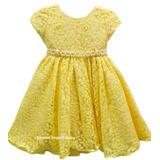 Vestido Festa Amarelo Minnions Magali Renda Luxo E Tiara