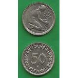 Grr-moneda De Alemania Federal 50 Pfennig 1949 J