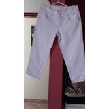 Pantalón Blanco Snicker Talla 30 Marca Dkny Jean Original