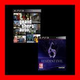 Grand Theft Auto V + Resident Evil 6 Ps3 Caja Vecina Oferta