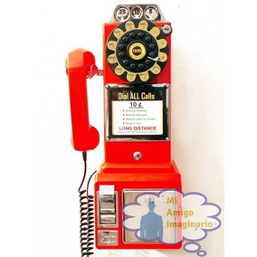 Telefono De Pared Vintage Replica Antiguo 50 Monedas Crosley