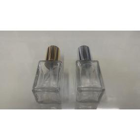15 Frascos Vidro Perfume 50ml Valvula Luxo Dourada Prateada