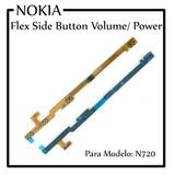 Cabo Flex Flat Botão Power E Volume Nokia Lumia N720 720 *