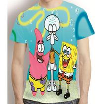 Camisa Desenho Animado Camiseta Bob Espoja - Estampa Total