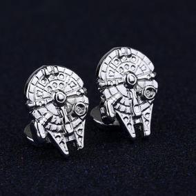 Star Wars Mancuernillas De Acero Halcón Milenario Originales