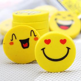 Kit Borradores Emoji Kawai Caja Con 30 Paquetes