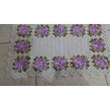 Tapete De Barbante Com Flores 70x50