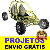 Projeto Kart Cross, Gaiola, Buggy, Kart + 3 Brindes