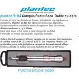 Compás De Punta Seca Doble Punta De Metal Plantec